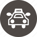 car, drive, rider, taxi, uber, vehicule icon