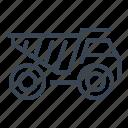 dump, truck, construction, machine, vehicle