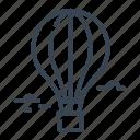 hot, air, balloon, ballooning icon