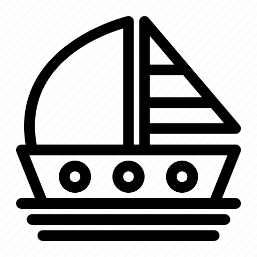 boat, ocean, sailboat, sea, transportation, vacation, water icon