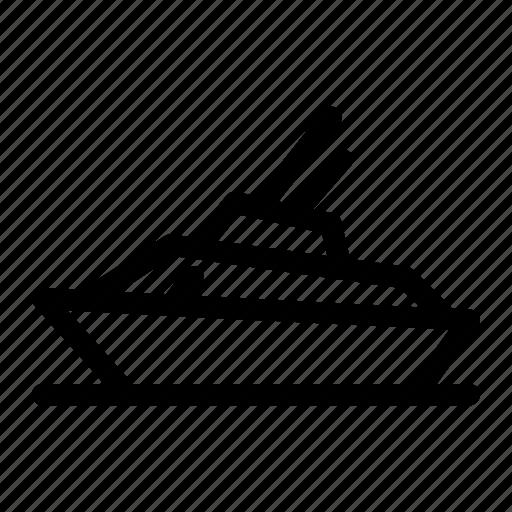 beach, boat, sea, ship, summer, transport, vacation icon