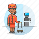 air, airplane, cabin, crew, female, flight, personnel, plane, transportation icon