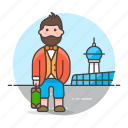 1, air, airport, baggage, luggage, male, passenger, passengers, transportation, travel icon