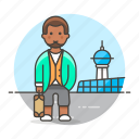 2, air, airport, baggage, luggage, male, passenger, passengers, transportation, travel icon