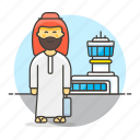 air, airport, baggage, luggage, male, passenger, passengers, transportation, travel icon