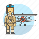 3, aircraft, and, aviation, aviator, man, pilot, pilots, plane, propeller, transportation icon