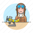 1, aircraft, aviation, aviator, male, pilot, pilots, plane, propeller, scale, transportation icon