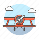 1, air, aircrafts, airscrew, aviation, front, plane, propeller, sky, transportation icon