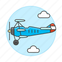 air, aircrafts, airscrew, aviation, front, plane, propeller, sky, transportation icon