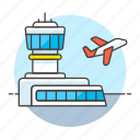 aeroplane, air, aircraft, airplane, airport, building, flight, plane, takeoff, transportation icon