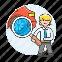 1, automotive, car, checking, man, mechanic, repair, service, technician, transportation icon