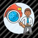 3, automotive, car, checking, man, mechanic, repair, service, technician, transportation icon