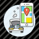 car, damage, damaged, engine, insurance, location, map, phone, transportation, vehicle icon