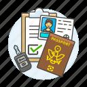 form, validation, driving, transportation, passport, license, male, road, retal, key, car, registration