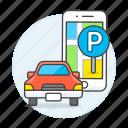 address, app, direction, finding, garage, location, lot, map, parking, phone, pin, road, transportation