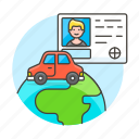 1, driving, global, journey, license, male, road, transportation, travel, vehicle icon