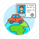 2, driving, global, journey, license, male, road, transportation, travel, vehicle icon