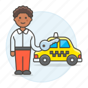 commercial, driver, female, key, private, road, taxi, taxicab, transport, transportation icon