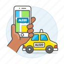 phone, ride, cab, hand, verification, transportation, user, license, road, matching, taxi, plate, app