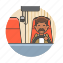 3, commercial, driver, male, motorist, transport, transportation, travel, truck, trucker icon