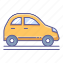 car, city, side, transportation, vehicle, view icon
