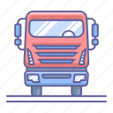 side, transportation, truck, vehicle, view icon
