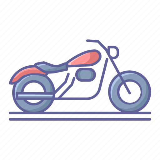 Bike, classic, motorcycle, side, transportation, vehicle, view icon - Download on Iconfinder