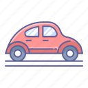 car, classic, side, transportation, vehicle, view icon