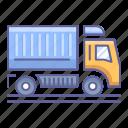 dump, side, transportation, truck, vehicle, view