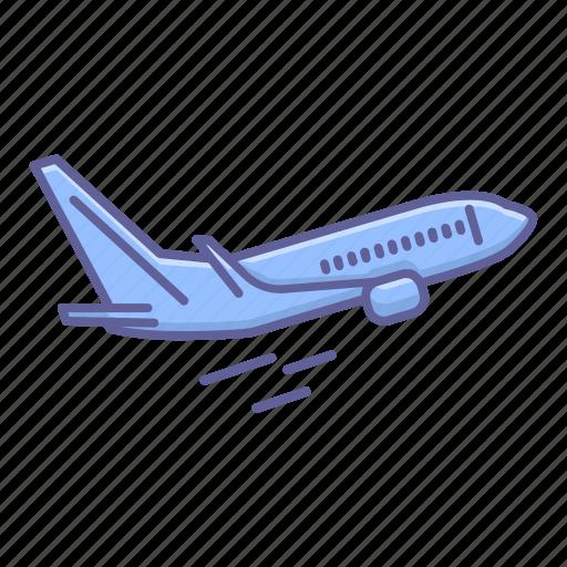 airplane, flight, jet, side, transportation, travel, vehicle icon