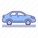 car, side, transportation, vehicle, view icon