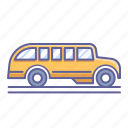 bus, school, side, transportation, vehicle, view icon