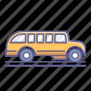 bus, school, side, transportation, vehicle, view