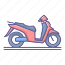 matic, motorcycle, scooter, side, transportation, vehicle, view