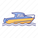 boat, holiday, sea, speed, sport, transportation, vehicle icon