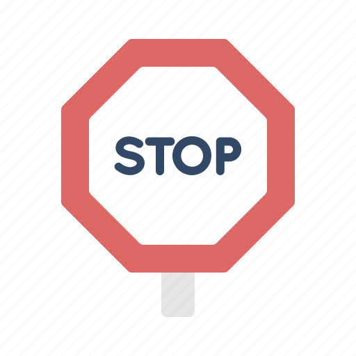 Road, sign, stop, tourism, transportation, travel icon - Download on Iconfinder