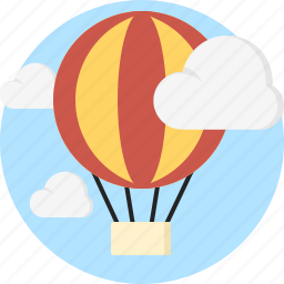 baloon, cloud, fly, sky icon
