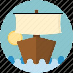 boat, ship icon