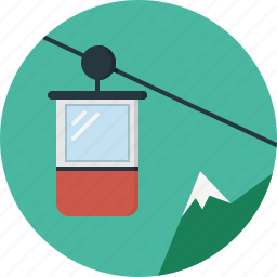cabine, cable, cable-car icon
