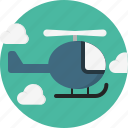 cloud, helicopter