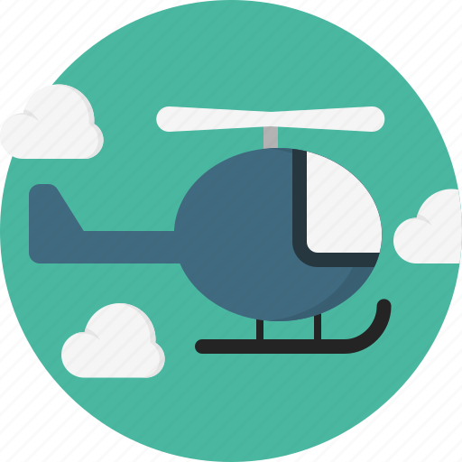 cloud, helicopter icon