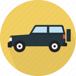 jeep, transportation icon