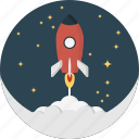 moon, rocket, space, spaceship icon