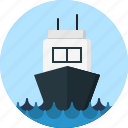 sea, ship icon