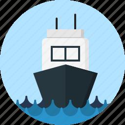 sea, ship icon