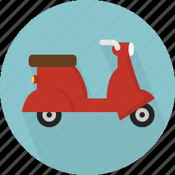 scooter, transportation, vespa icon