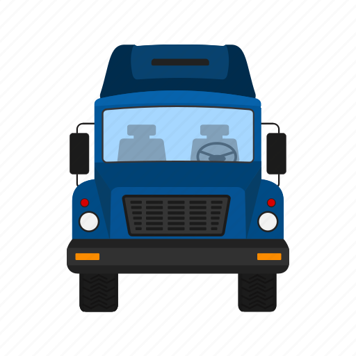 courier, delivery, load, lorry, trailer, truck, van icon