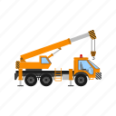 dozer, loader, caterpillar, truck, crane, lorry, tractor
