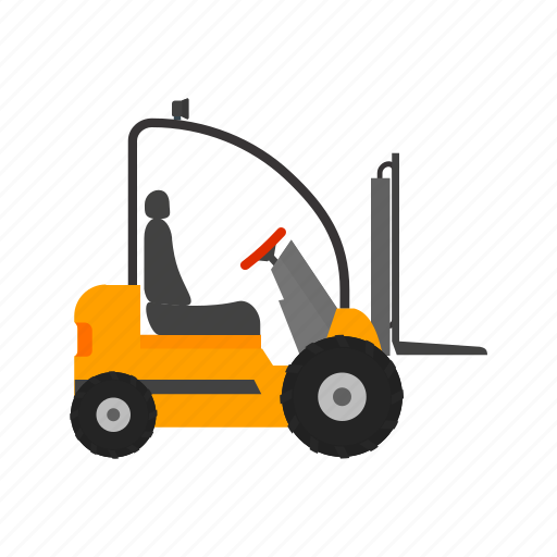 fork, forklift, lift, loader, machinery, truck, vehicle icon
