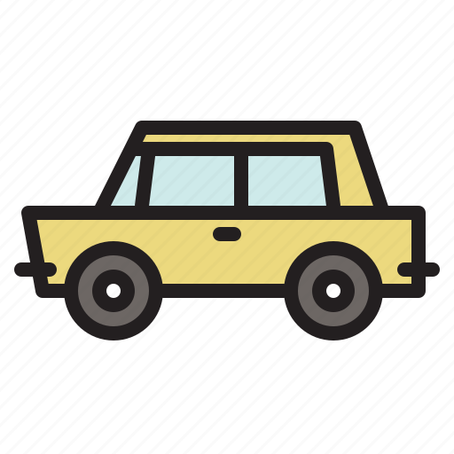 automobile, car, colored, transportation, vehicle icon